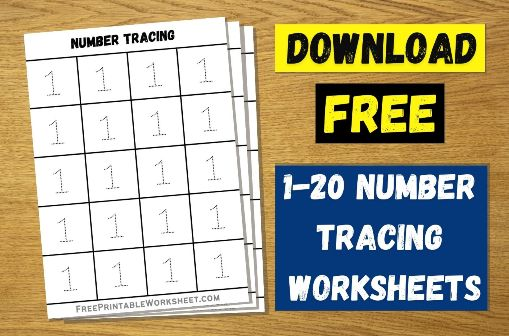 Number Tracing 1-20 PDF