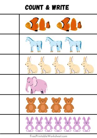 count and write worksheets pdf