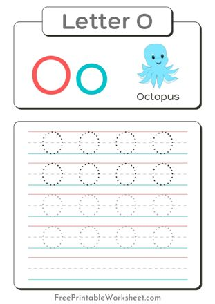 Letter O Tracing