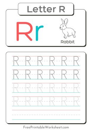Letter R Tracing