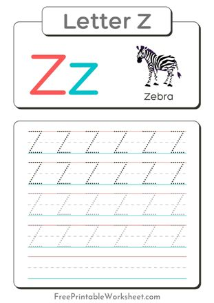 Letter Z Tracing