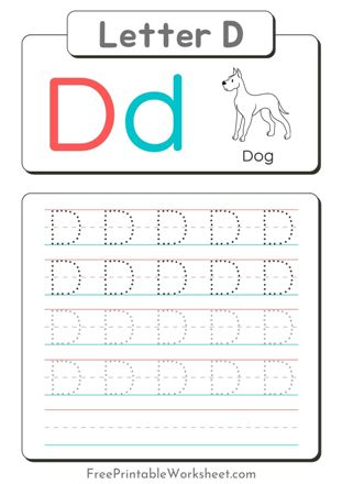Letter D Tracing