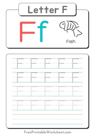 free Letter f Tracing