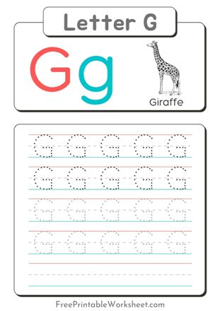 Letter G Tracing