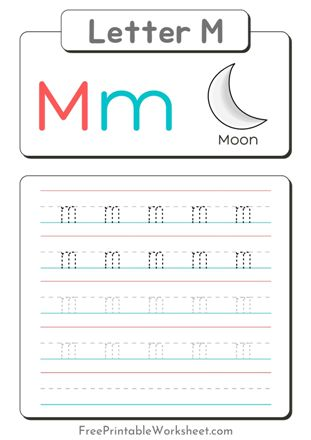 small Letter M Tracing