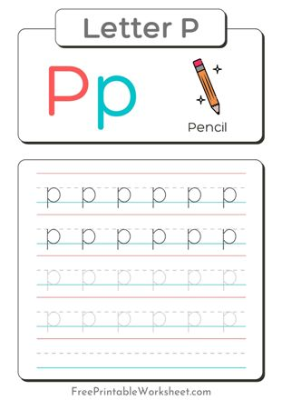 small Letter P Tracing