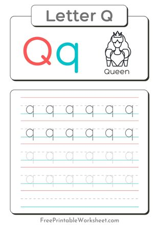 Small Letter Q Tracing