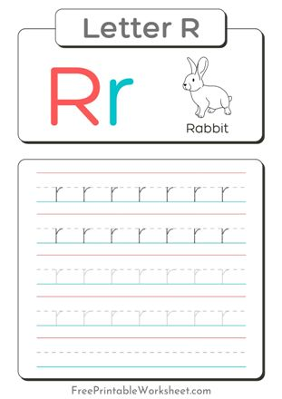 Small Letter R Tracing