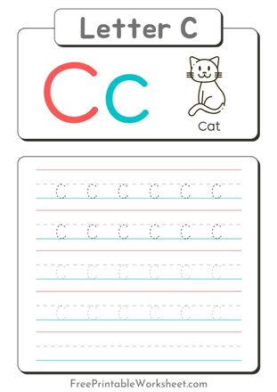 small Letter C Tracing