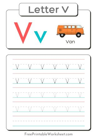 Small Letter V Tracing