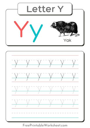 Small Letter Y Tracing