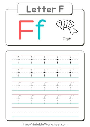 Small Letter f Tracing