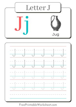 Letter j Tracing
