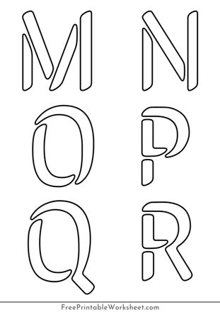 large letter Stencils to print and cut out