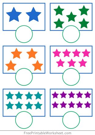 Count and Write Worksheets 1-10 PDF