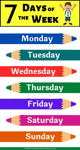 Days of the Week Chart Printable
