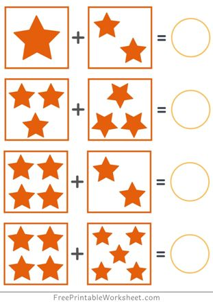 kindergarten Addition Worksheets with Pictures