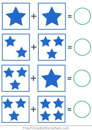 Picture Addition worksheets PDF