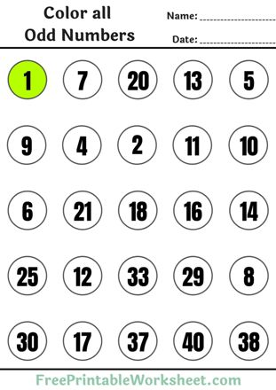 Odd and even numbers worksheets pdf