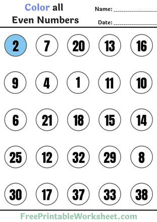 Even and odd numbers worksheets for Grade 3