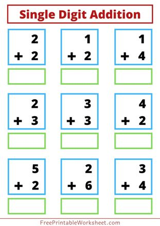 addition worksheet for class 1