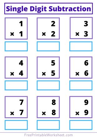 One digit multiplication for class 1